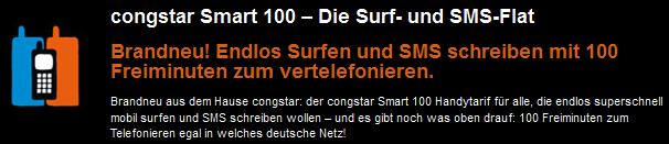 Congstar mit neuem Smart 100 Handytarif