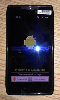 Das DROID HD von Motorola
