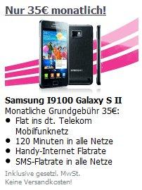 Samsung Galaxy S2 Smartphone mit Vertrag