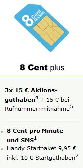 Maxxim Plus Handytarif mit bis zu 70,- Euro Startguthaben!