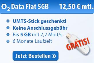 O2 Active Data 5 GB für nur 12,50 Euro pro Monat