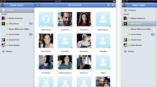Skype iPad App veröffentlicht