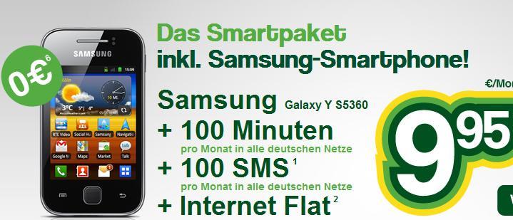Smartmobil mit gratis Samsung Galaxy
