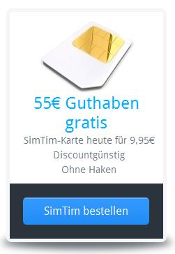 Simtim mit 55 Euro Startguthaben