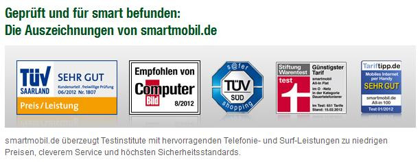 Smartmobil erhlt TV-Zertifikat mit &quot;Sehr gut&quot;